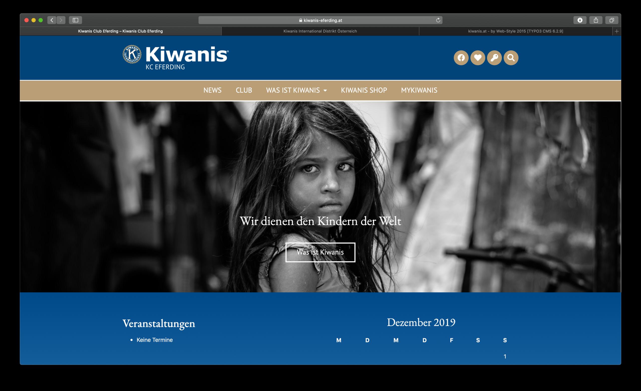 Website Kiwanis Eferding